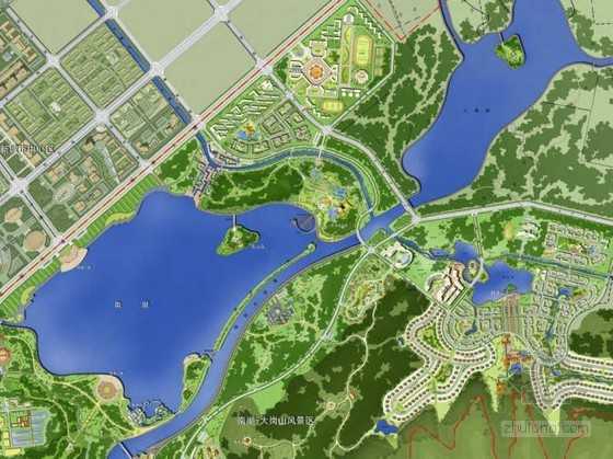 [浙江]临湖风景区总体景观规划设计