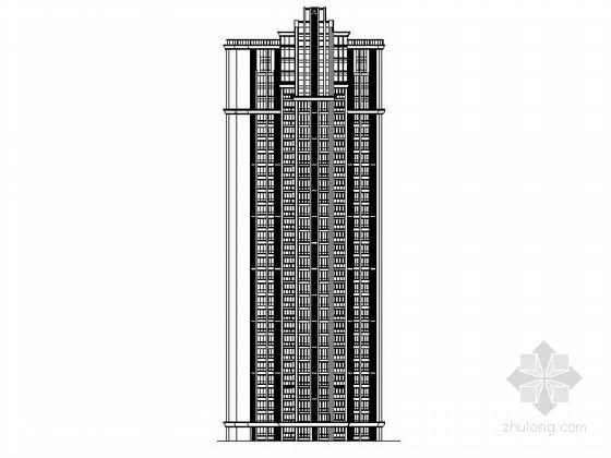 [四川]一级高层框架剪力墙结构塔式住宅楼建筑施工图(含两套方案)