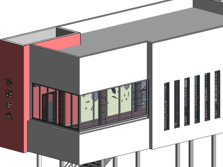 revit室内装饰族资料下载-BIM模型-revit模型-售楼中心室内装饰模型