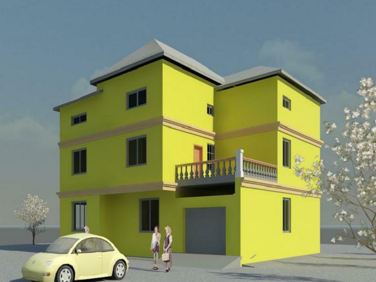 三层Revit别墅模型