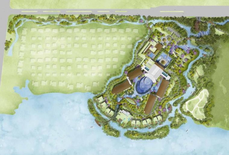 高端酒店景观设计——总平面图