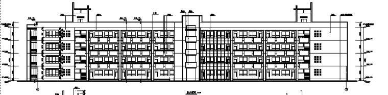 ING办公室的艺术墙资料下载-西安某大学教学楼全套建筑图(含教学楼及办公室)