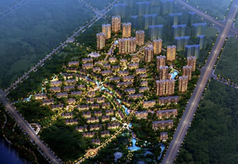 [河北]高端别墅区及高层住宅居住区建筑方案设计图纸(一)