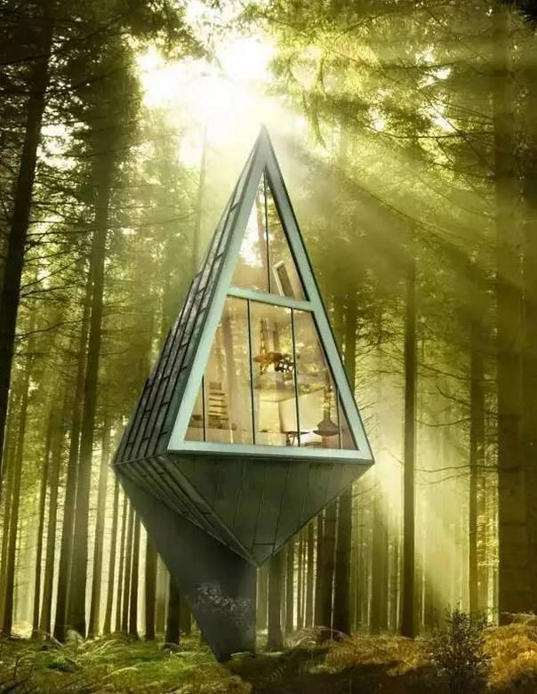 锥形林间度假屋-`.jpg