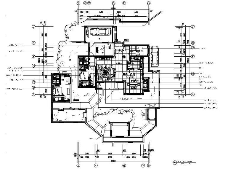 [苏州]国内前沿公司作品新中式复古别墅室内设计CAD图(含效果图)