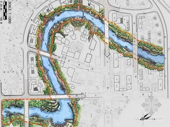 [长沙]现代简约风格滨水商业区景观规划设计方案