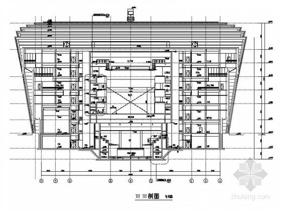 省级大剧院建筑剖面图