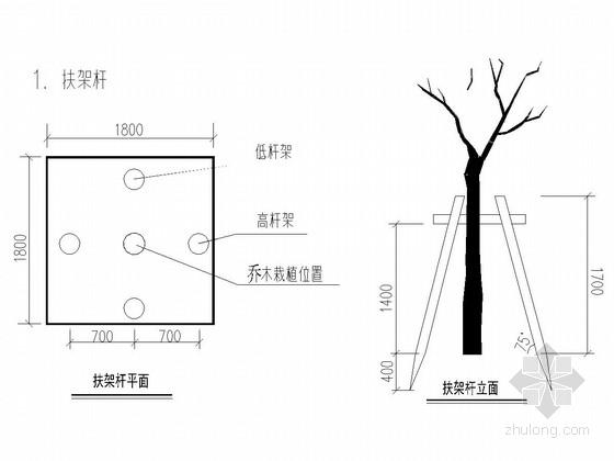 [天津]双向四车道城市次干路绿化工程设计图(39张)