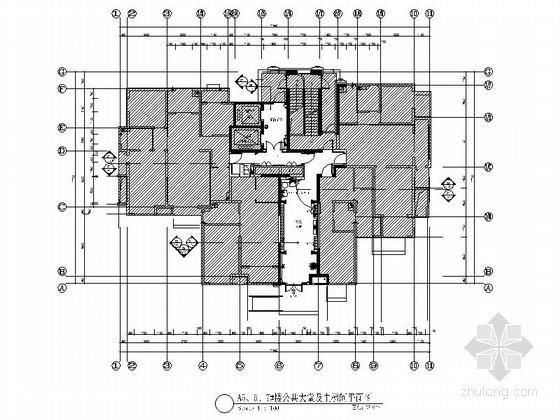 [山东]现代风格住宅楼室内公共部分装修施工图