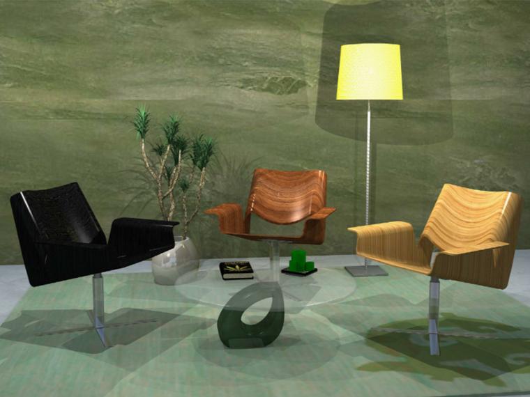 [素材集]常用104套住宅室内沙发SU模型