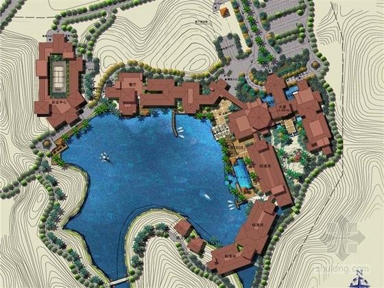 [佛山]山水禅意酒店景观规划设计方案(附建筑设计方案)