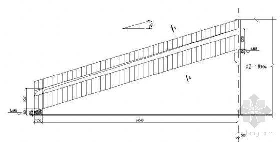 某30米封闭式钢桁架通廊图纸