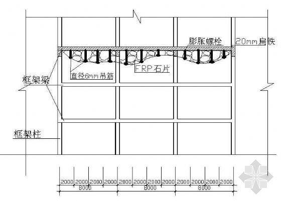 FRP假山吊顶结构图