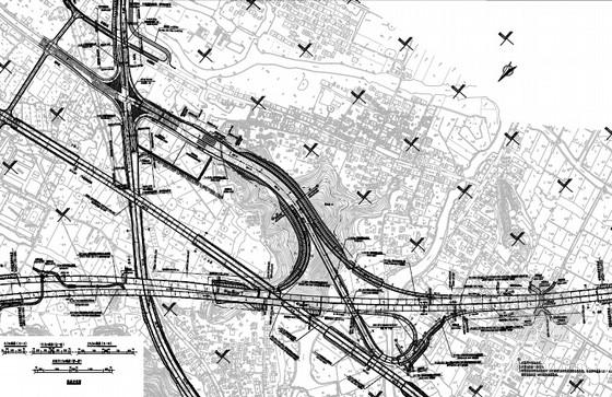 [浙江]含1座新奥法隧道及15座立交互通匝道桥高速公路工程设计图纸2005张