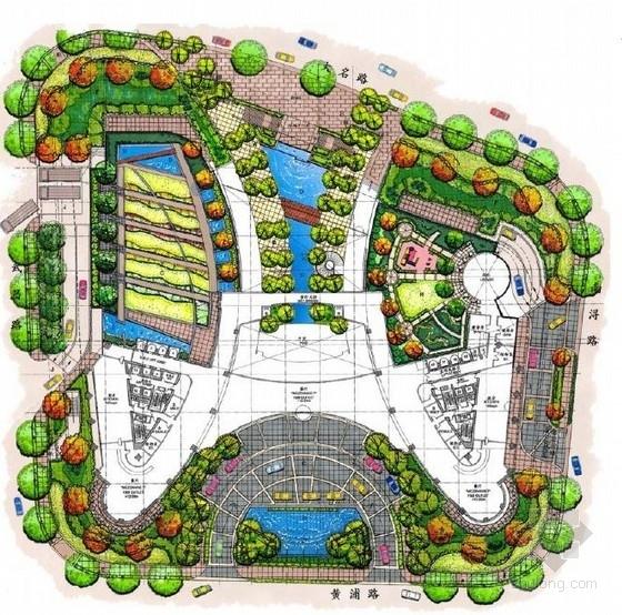 [上海]中央商务区环境景观概念设计方案
