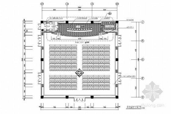 现代化大型多功能厅室内施工图