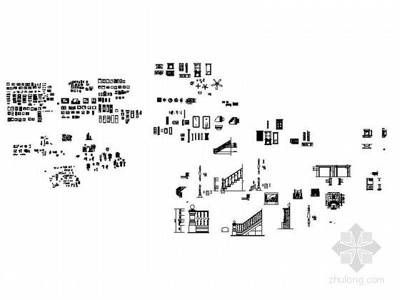 室内装饰品CAD图块下载资料图纸总缩略图