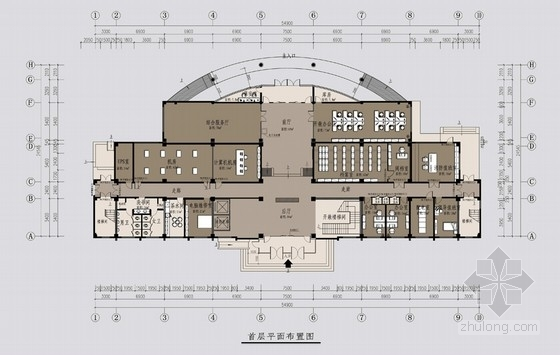 [北京]基金征收管理机构现代办公楼改造室内装修设计方案
