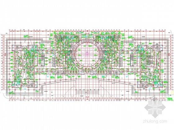 [上海]超高层金融大厦空调通风及防排烟系统设计施工图(机房 大院设计)