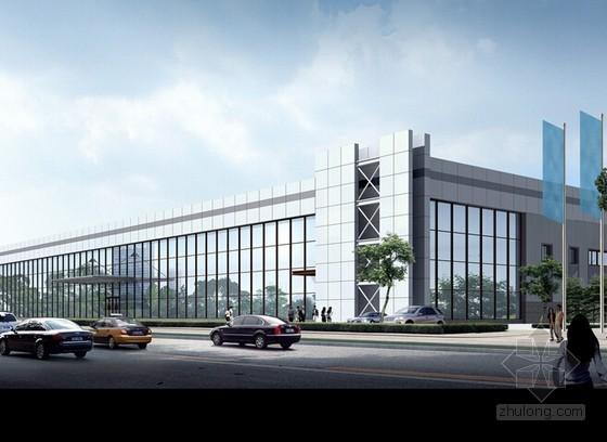 [天津]4S汽车行展厅、附属办公楼建筑安装预算及工程量计算实例(附全套图纸 工程量计算表格)