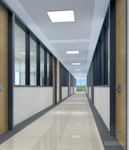 [江苏]省级产品质量检验事业单位现代检验楼装修施工图(含效果)走道效果图