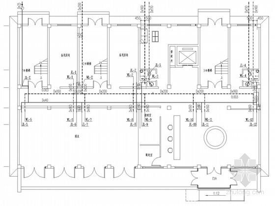 [河南]多层酒店给排水消防施工图