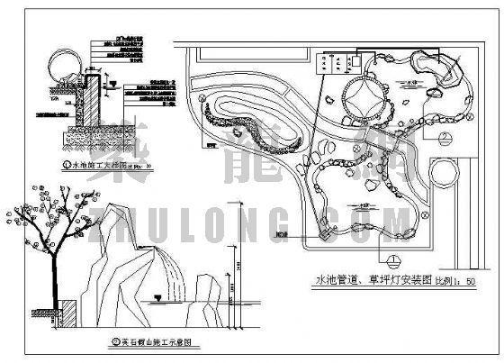 别墅私家花园施工图-3