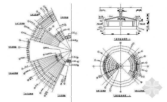 某供水工程倒锥壳水塔全套施工图