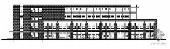 无锡惠山某学校规划区食堂建筑结构方案图
