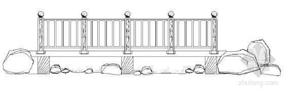 铁艺栏杆节点图