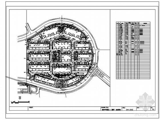 大连住宅小区景观设计施工图