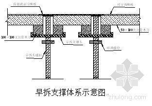 某工程模板支撑体系早拆施工方案