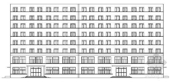 某八层办公楼建筑结构施工图-某八层办公楼建筑结构方案图