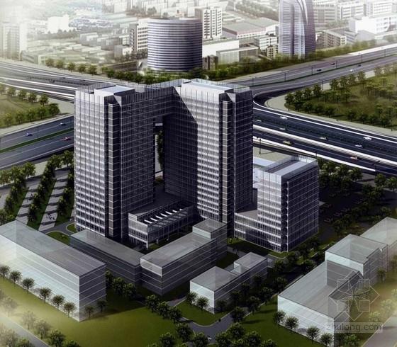 [北京]玻璃幕墙办公综合体建筑设计方案文本