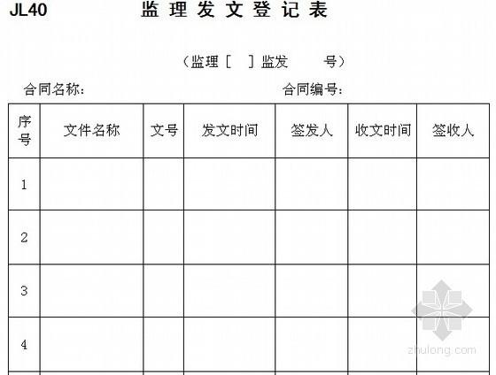 水利工程施工监理规范用表(49个)