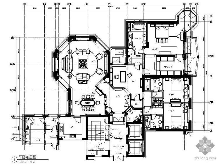 [上海]高档公寓标准层四居样板房施工图