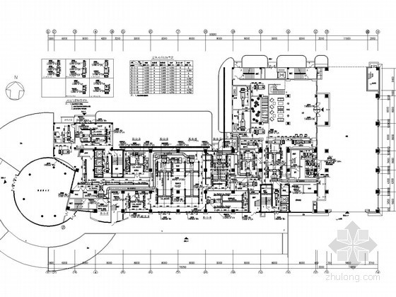 高层商业办公酒店综合建筑空调通风及防排烟系统设计施工图(含机房设计)
