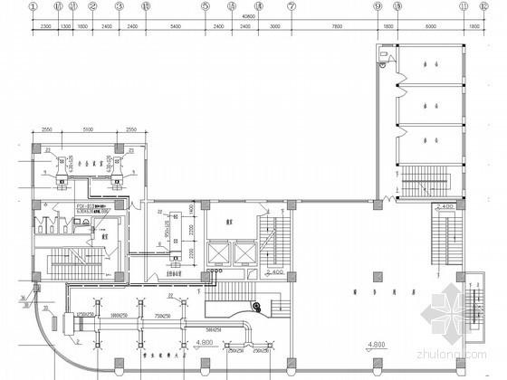[湖北]高层商业办公楼空调通风系统设计施工图(风冷热泵式冷水机组)