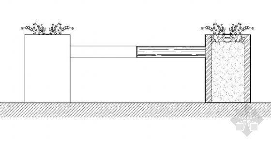 花箱坐凳平立剖面图