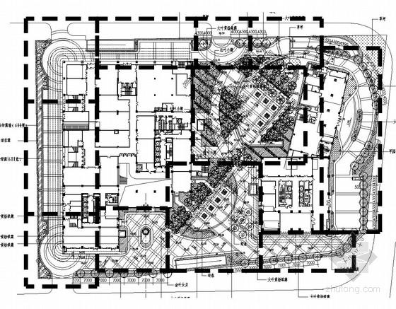 [北京]商业中心外环境景观工程扩初设计施工图