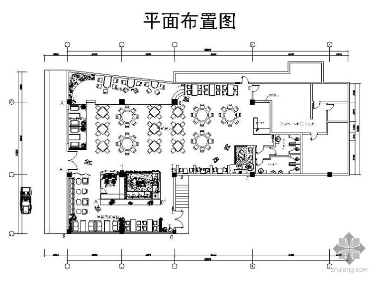 药膳堂快餐厅室内设计图