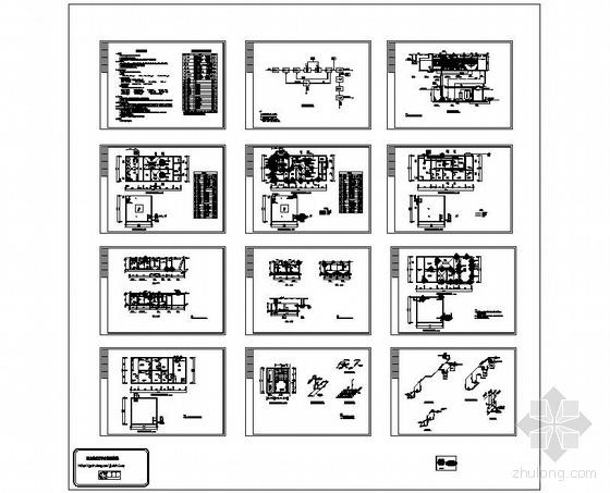 水解酸化-接触氧化工艺全套图纸