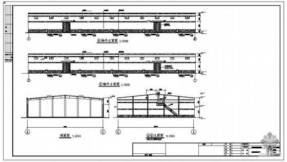 某新型平房仓排架建筑结构工艺设计图