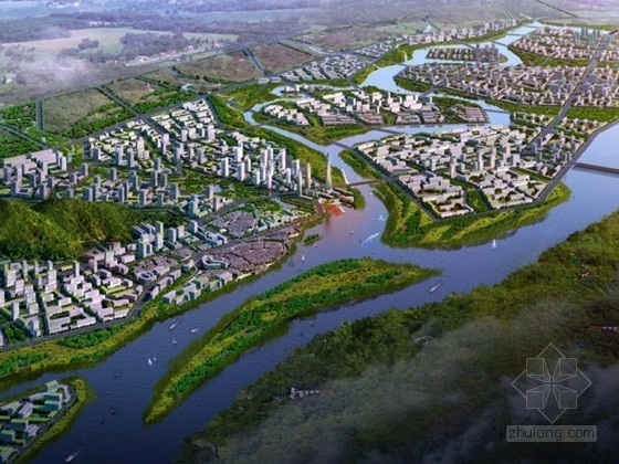 城市规划鸟瞰图