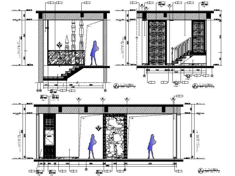 [海口]复古奢华低层别墅样板间室内设计施工图(含软装方案)_3