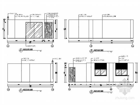 [南京]全国重点综合性历史艺术博物馆办公综合楼装修施工图艺术所立面图