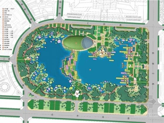 [山东]城市新区起步区公园、道路及水系景观设计方案(北京著名景观公司)