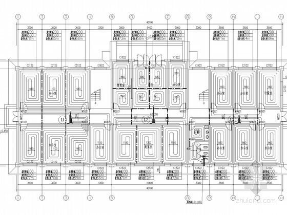 [山西]多层办公楼供暖通风系统设计施工图(节能设计)