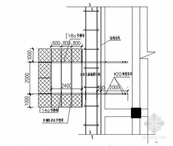 高层建筑地上外加脚手架施工方案