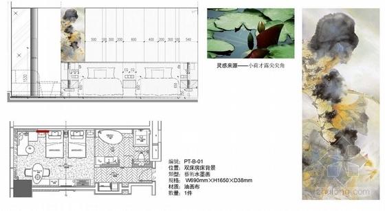[杭州]国内顶级都市现代国际会议型酒店艺术品设计方案双床房概念图